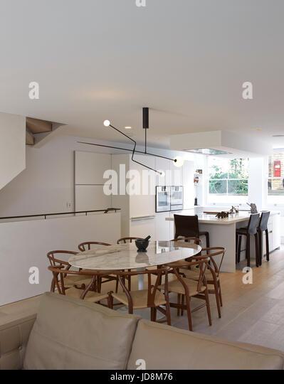 Overall view on ground floor. Notting Hill House, London, United Kingdom. Architect: Michaelis Boyd Associates Ltd, - Stock-Bilder