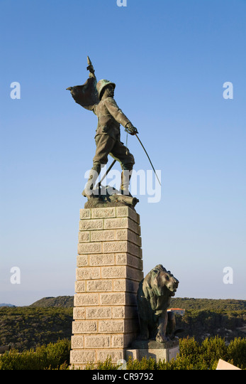Foreign Legion monument in Bonifacio, south coast, Corsica, France, Europe - Stock Image