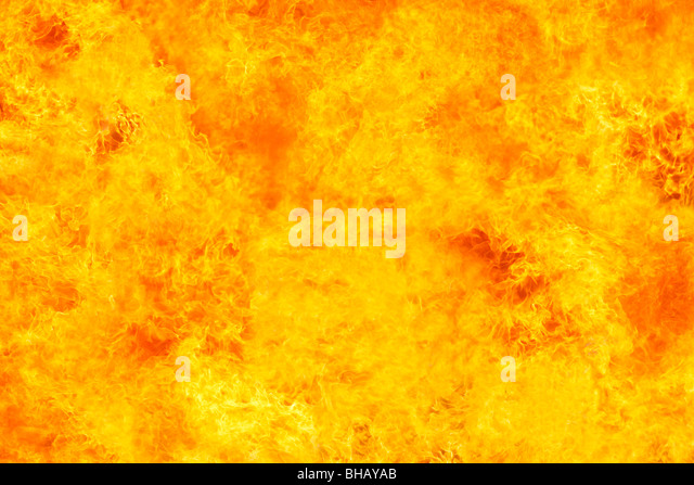Close-up of intense fire - Stock Image