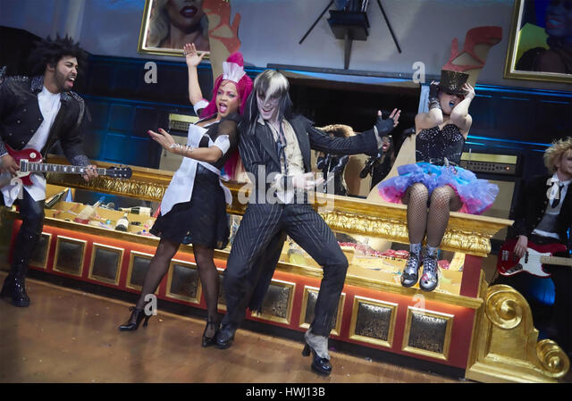 ROCKY HORROR PICTURE SHOW: LET'S DO THE TIME WARP AGAIN 2016 Fox 21 TV  film with Christina Milian and Reeve - Stock-Bilder