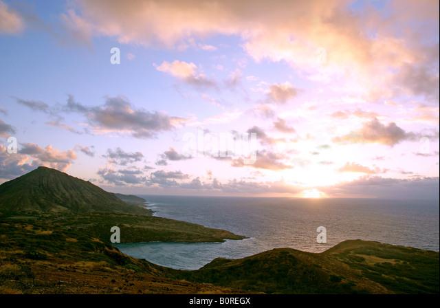 Ka Iwi Coast,Oahu - Stock Image