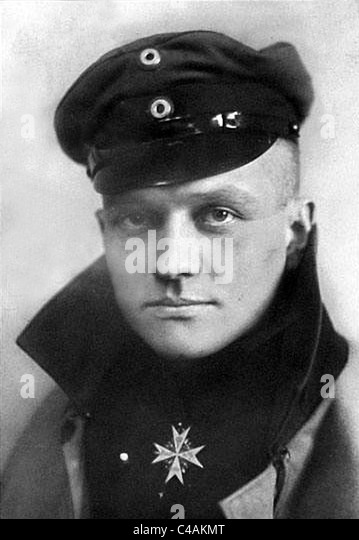 Red Baron, Manfred von Richtofen, Manfred Albrecht Freiherr von Richthofen, The Red Baron fighter pilot ace. - Stock Image
