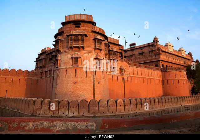 Junagarh Fort in city of Bikaner rajasthan state in india - Stock-Bilder