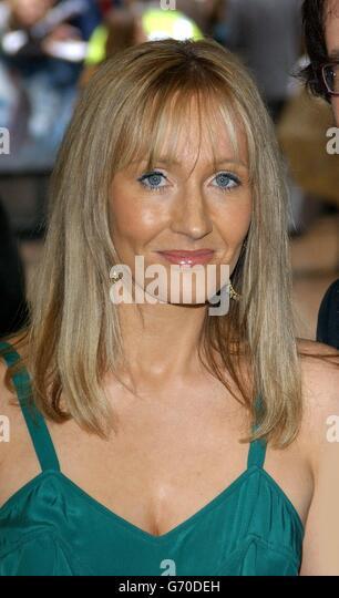 JK Rowling UK premiere of Harry Potter - Stock Image
