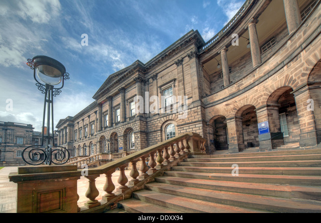 Elegance of Edinburgh University South College Lothian Scotland UK wide view - Stock Image