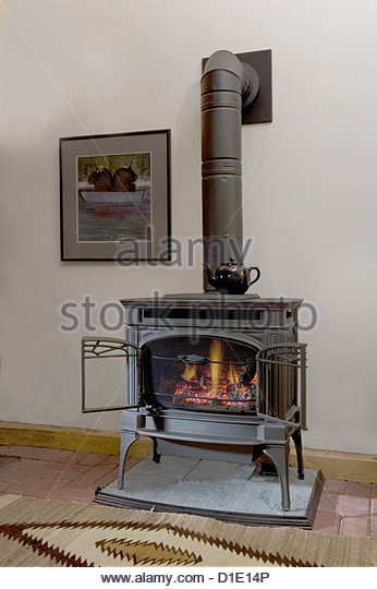 wood burning stove stock photos wood burning stove stock images alamy. Black Bedroom Furniture Sets. Home Design Ideas