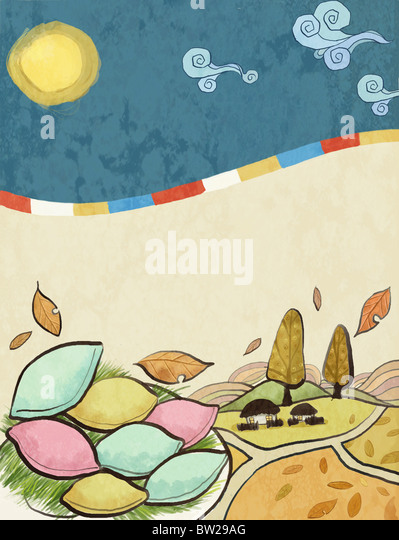 Chuseok and Autumn air - Stock-Bilder