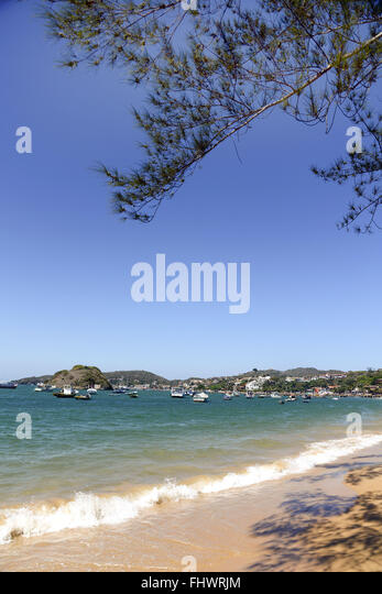 Beach Frame cm Orla Bardot in the background - Lakes Region - Stock Image