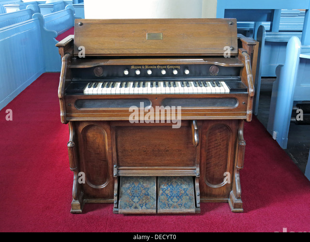 Mason Hamlin Organ at Edinburgh Canongate Kirk, Scotland, UK - Stock Image