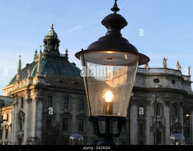Germany Munich nostalgic incandescent bulb - Stock Image