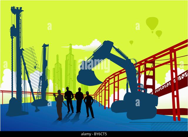 city construction - Stock-Bilder