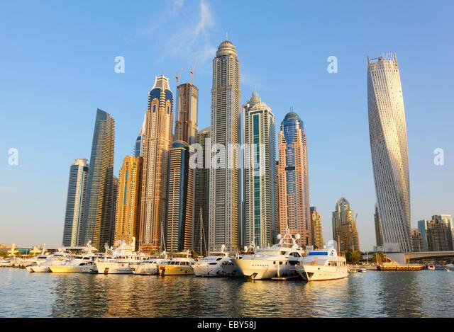 Dubai Marina waterfront - Stock-Bilder