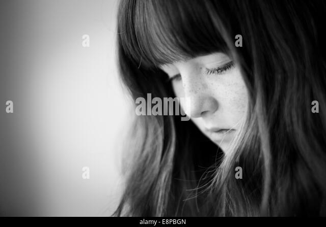 Portrait of teenage girl (13-15) - Stock-Bilder