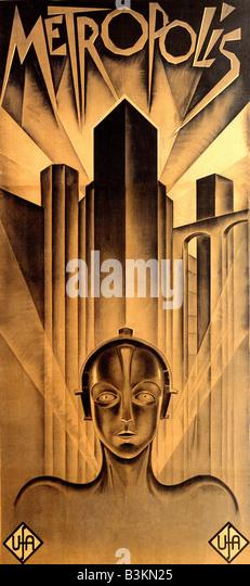 METROPOLIS Poster for 1926 UFA film - Stock Image