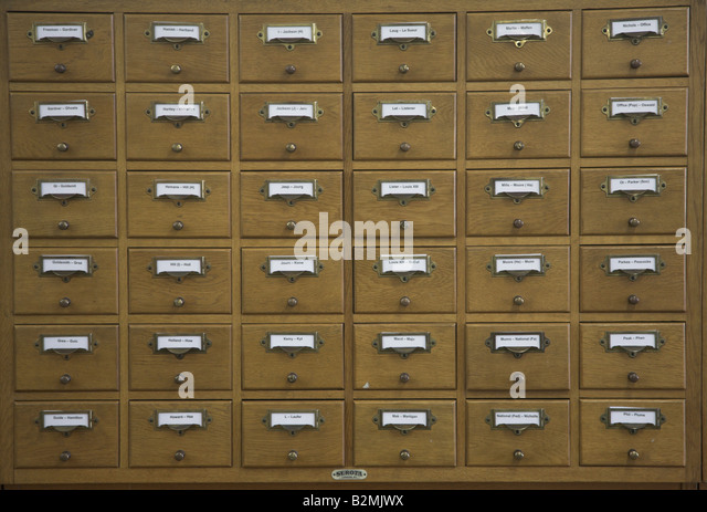 Old Library Card Catalog Stock Photos Amp Old Library Card