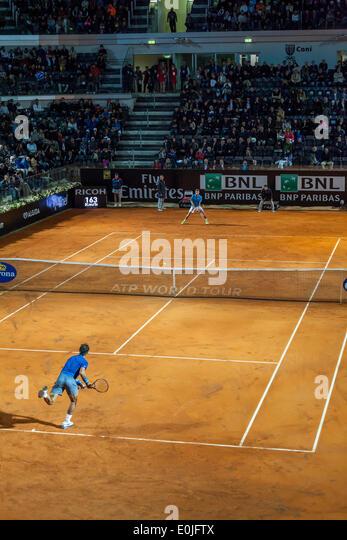 Rome, Italy. 14th May, 2014. Rafael Nadal, Gilles Simon Rafael Nadal vs Gilles Simon , Rome, Italy. 5/14/14 Credit: - Stock Image