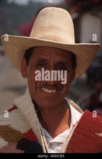 Guatemala La Antigua colonial capitol until earthquake Cakchiquel Indigenous man - Stock Image