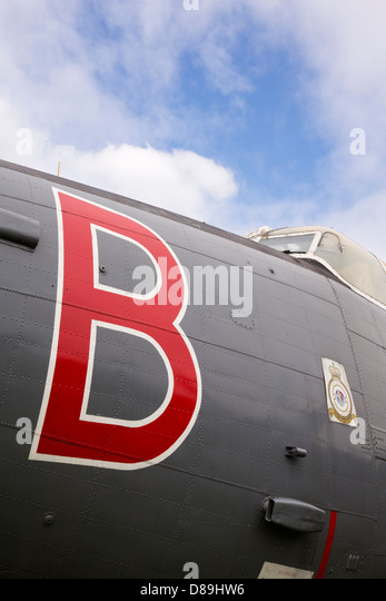 Avro Shackleton MR3/3, WR977 at Newark Air Museum - Stock Image