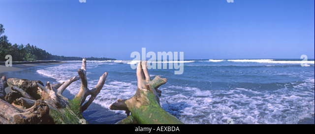 Manuel Antonio National park wild beach Playa Manuel Antonio  - Stock Image
