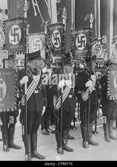 Standard bearers of the SS, 1937 - Stock-Bilder