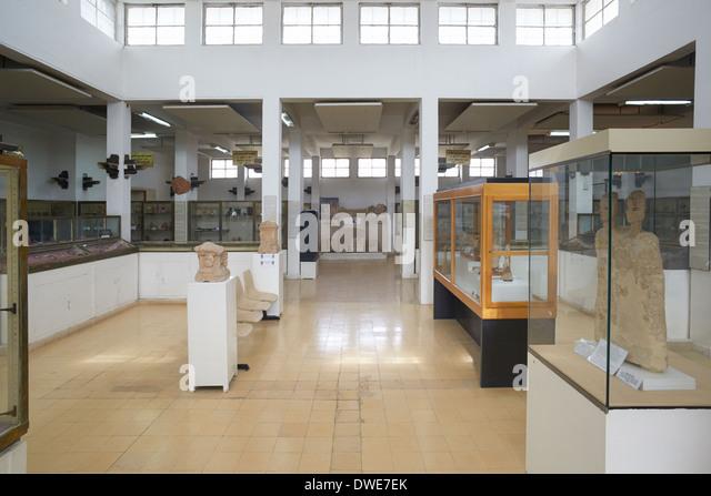 Jordan Archaeological Museum interior in Amman, Jordan - Stock Image