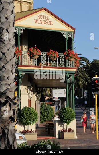 The Windsor Hotel is a heritage-listed building in South Perth, Western Australia. Pub Restaurant - Stock Image