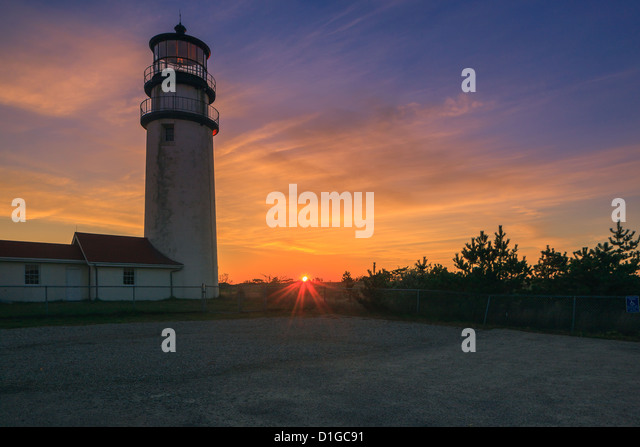 Cape Cod?s oldest lighthouse, Highland Light at Truro. - Stock-Bilder