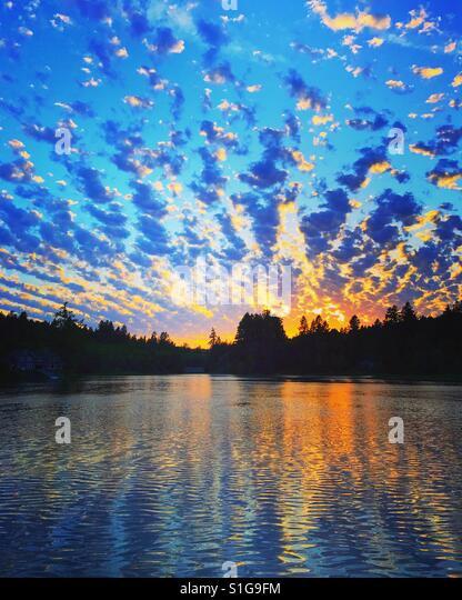 Sunset on Puget Sound. - Stock-Bilder