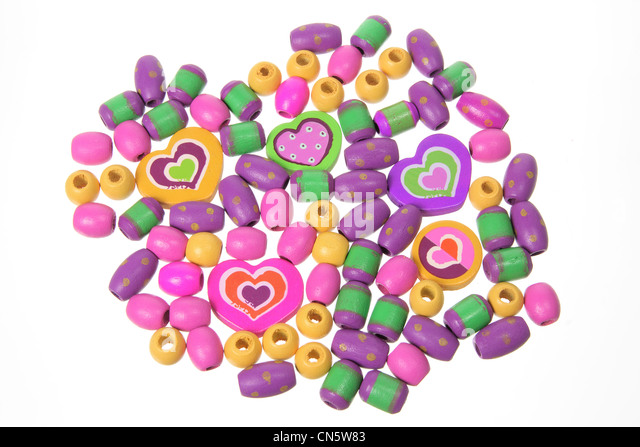 Wooden Beads - Stock Image