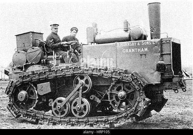 WWI, Hornsby Caterpillar Track, 1908 - Stock Image