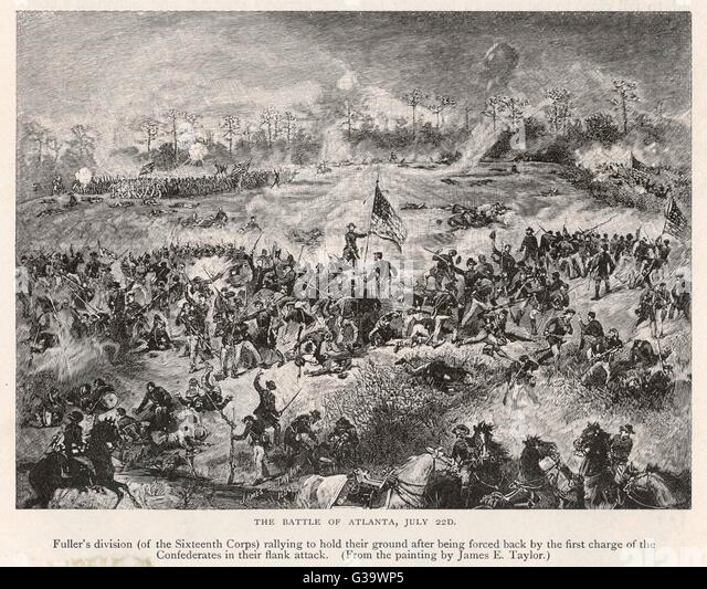 A general view of the battle          Date: 22 July 1864 - Stock Image