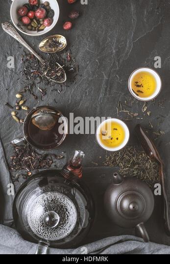 Tea diversity concept vertical - Stock Image