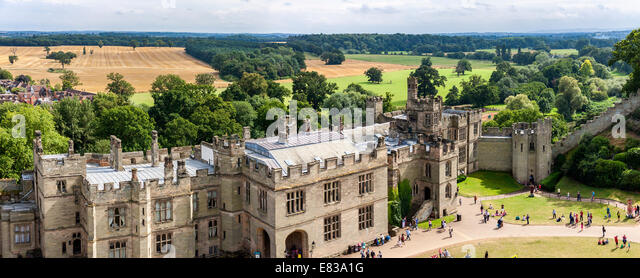 View of Warwick castle - Stock Image