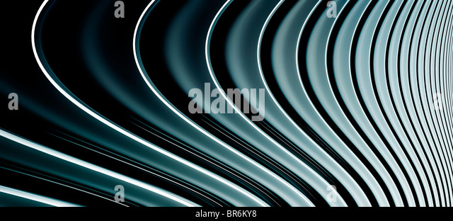 Abstract curved lines, diminishing perspective - Stock Image