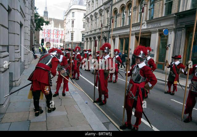 Honourable Artillery Company in guildhall london - Stock Image
