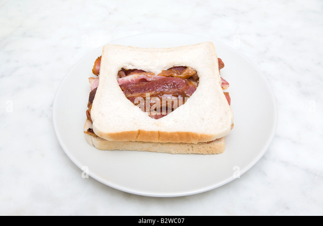 A bacon sandwich - Stock Image