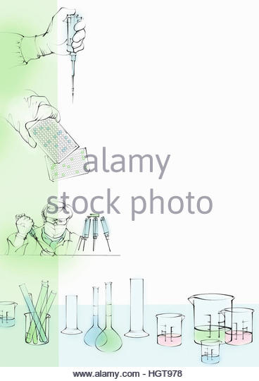 Montage of science laboratory research - Stock-Bilder