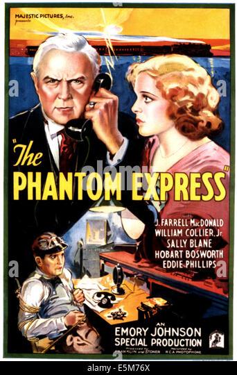 PHANTOM EXPRESS, Hobart Bosworth, Sally Blane, 1932 - Stock Image