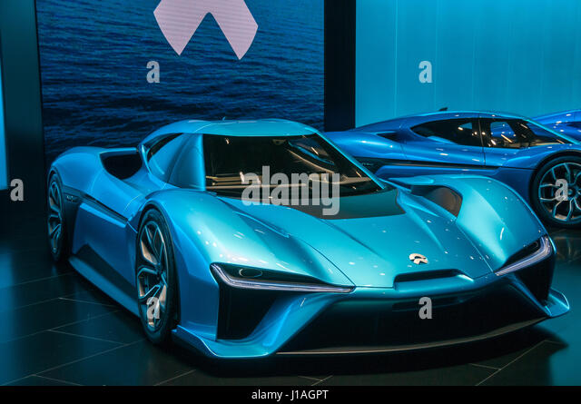 Shanghai, China. 19th Apr, 2017. World premiere at 2017 Shanghai Auto Show. Credit: Mark Andrews/Alamy Live News - Stock Image