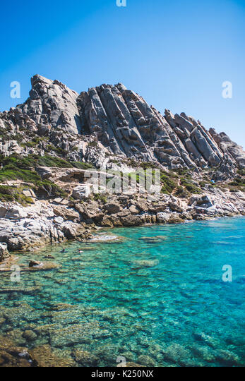 Sardinia, Italy. 21st Aug, 2017. The Sardinian sea and coast during summer period Photo: Alessandro Bosio/Pacific - Stock Image