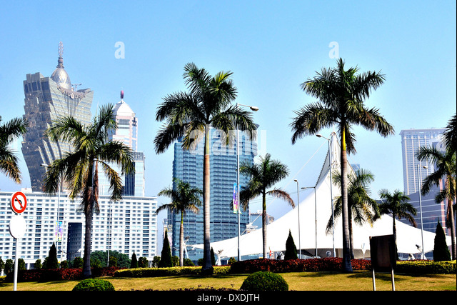 Gran Lisboa casino Macau China - Stock Image