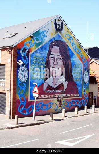 Belfast mural h block stock photos belfast mural h block for Bobby sands mural belfast