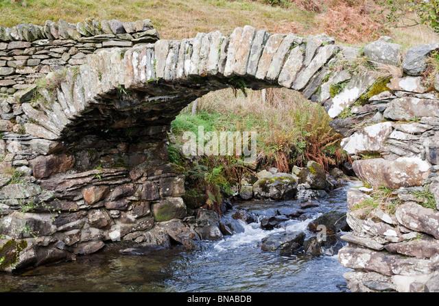 High Sweden Bridge, Scandale Fell, Lake District. - Stock Image