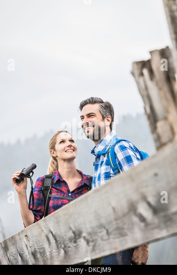 Couple enjoying the sights - Stock-Bilder