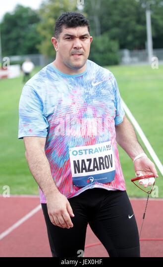 Ostrava, Czech Republic. 27th June, 2017. Tadjikistan's DILSHOD NAZAROV competes during the men's hammer - Stock-Bilder