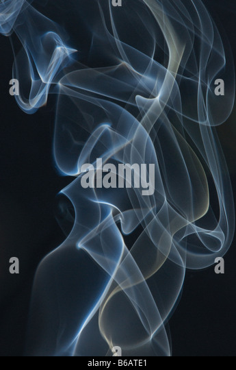 Smoke on black background - Stock-Bilder