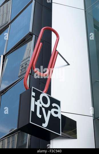 Detail of sign at new flagship store of famous ItoYa stationary shop in Ginza Tokyo Japan - Stock Image