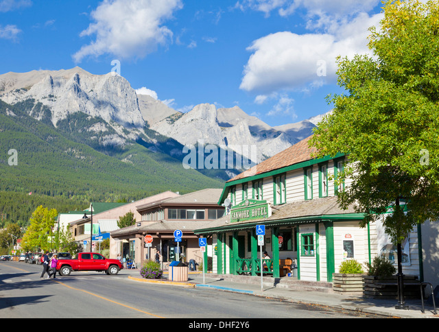 The Canmore Hotel on Main street  in Township of Canmore Alberta Canada - Stock-Bilder