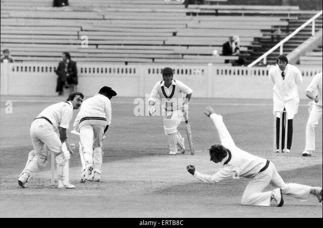 Lancashire Cricket Club V Middlesex, Lloyd makes the catch. 22nd June 1979. - Stock Image