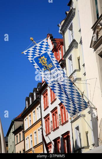 AUGUSTINERBRAEU at Platzl, Munich, Bavaria, Germany - Stock Image